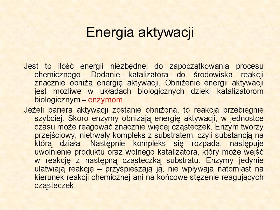 Energia aktywacji