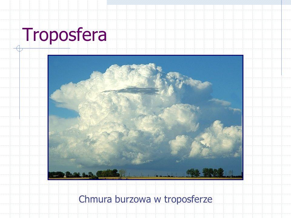 Chmura burzowa w troposferze