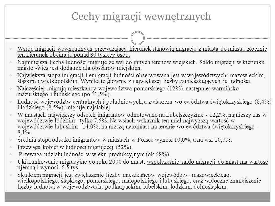 Cechy migracji wewnętrznych