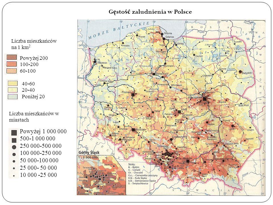 Gęstość zaludnienia w Polsce