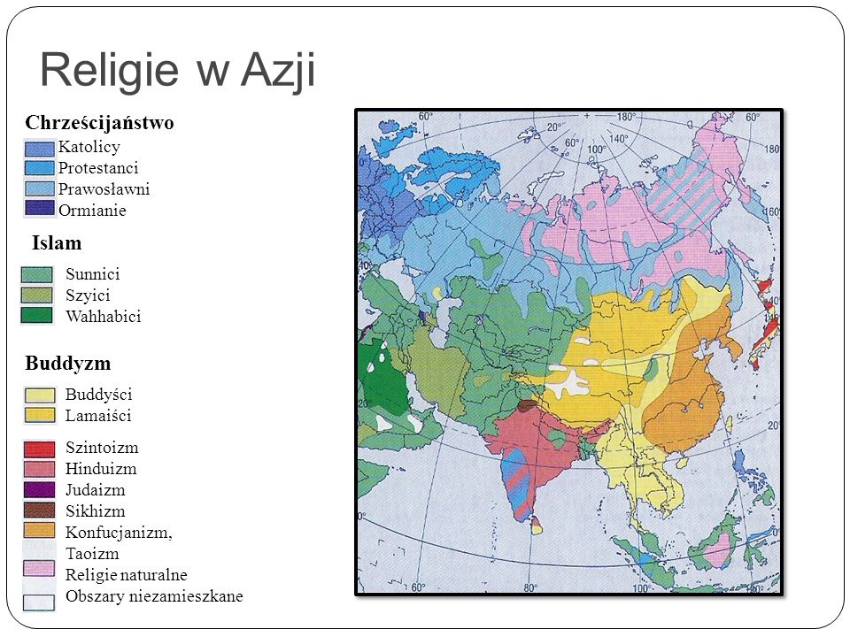 Religie w Azji Chrześcijaństwo Islam Buddyzm Katolicy Protestanci