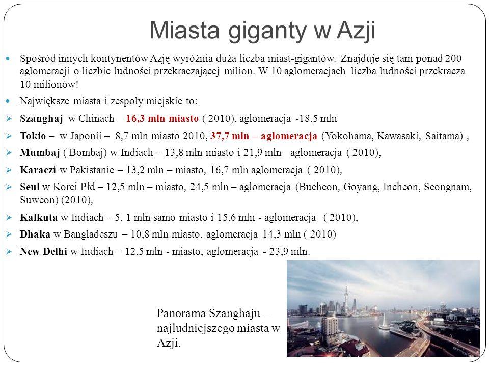 Miasta giganty w Azji