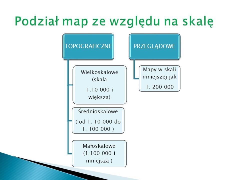 Podział map ze względu na skalę