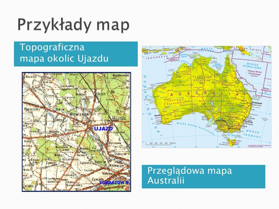 Przykłady map Topograficzna mapa okolic Ujazdu