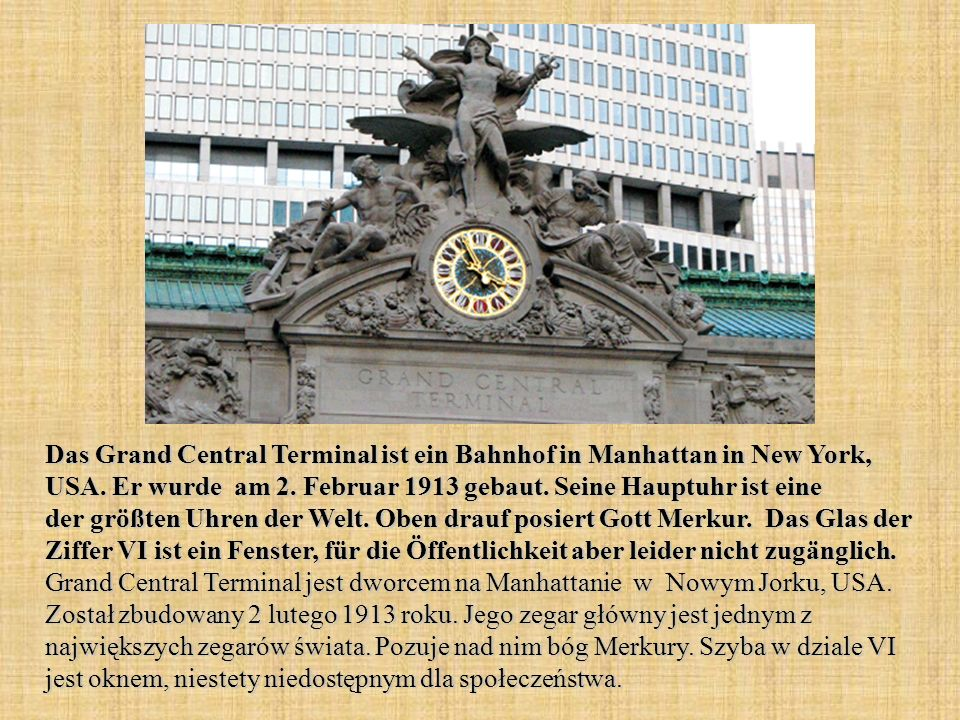 Das Grand Central Terminal ist ein Bahnhof in Manhattan in New York, USA.