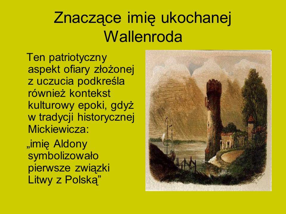 Znaczące imię ukochanej Wallenroda