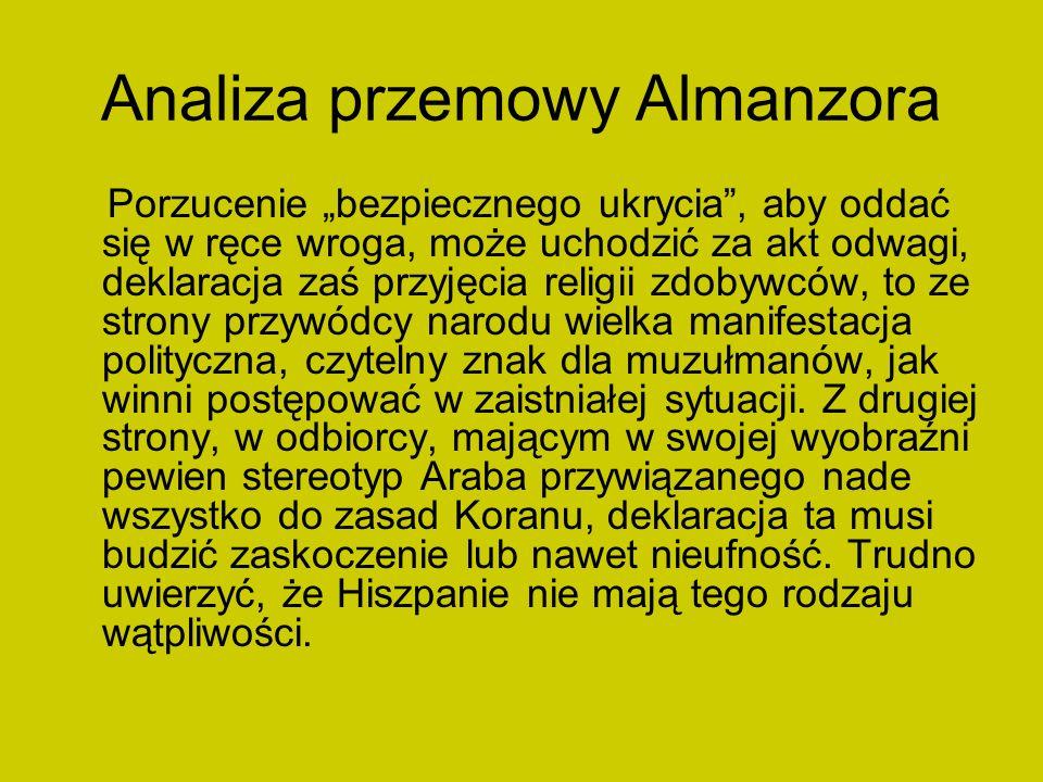 Analiza przemowy Almanzora