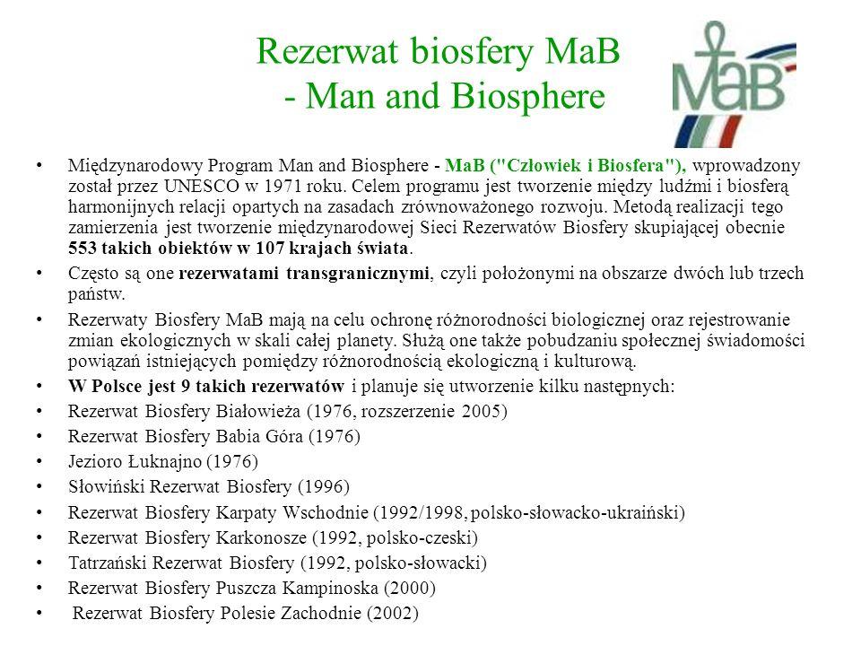 Rezerwat biosfery MaB - Man and Biosphere