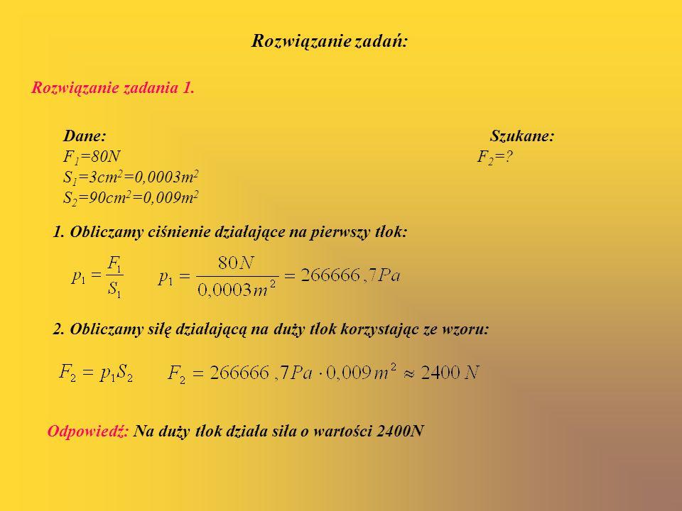 Rozwiązanie zadań: Rozwiązanie zadania 1.