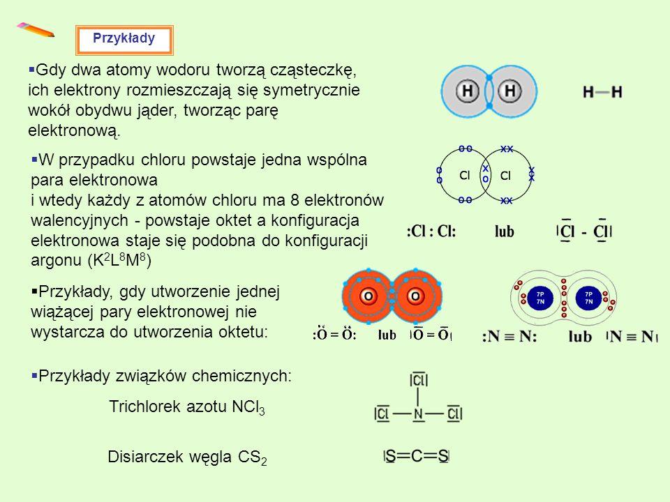 Przykłady związków chemicznych: Trichlorek azotu NCl3