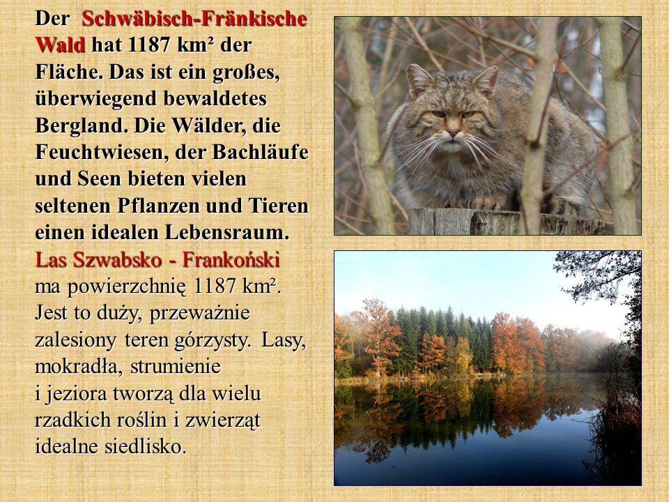 Der Schwäbisch-Fränkische Wald hat 1187 km² der Fläche