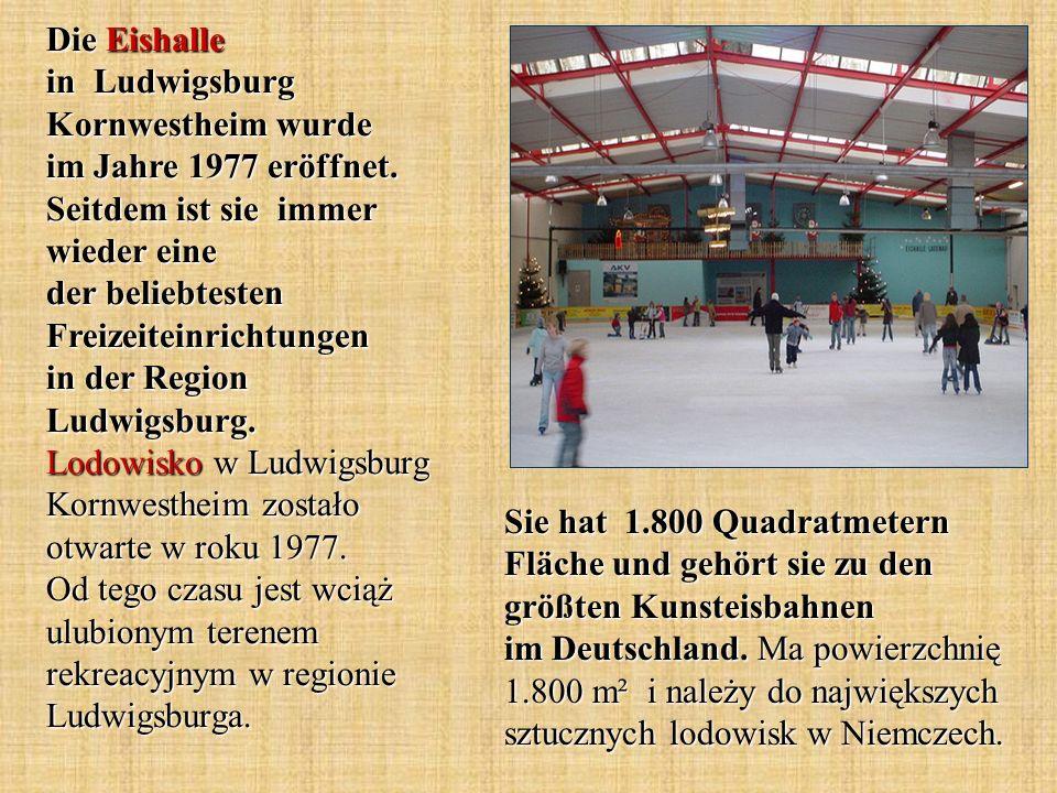 Die Eishalle in Ludwigsburg Kornwestheim wurde im Jahre 1977 eröffnet