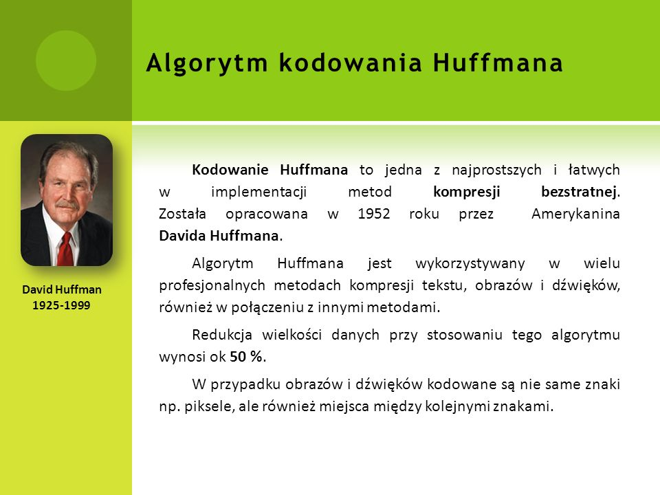 Algorytm kodowania Huffmana