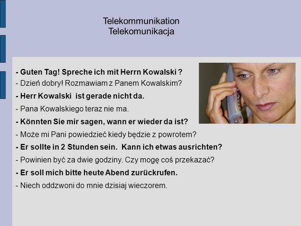 Telekommunikation Telekomunikacja