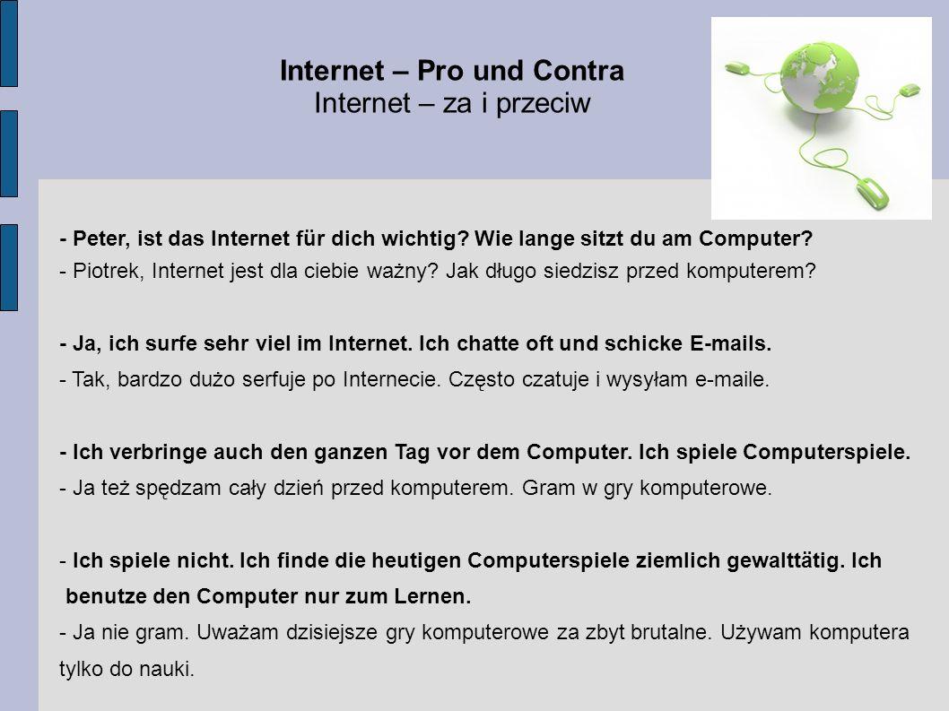 Internet – Pro und Contra