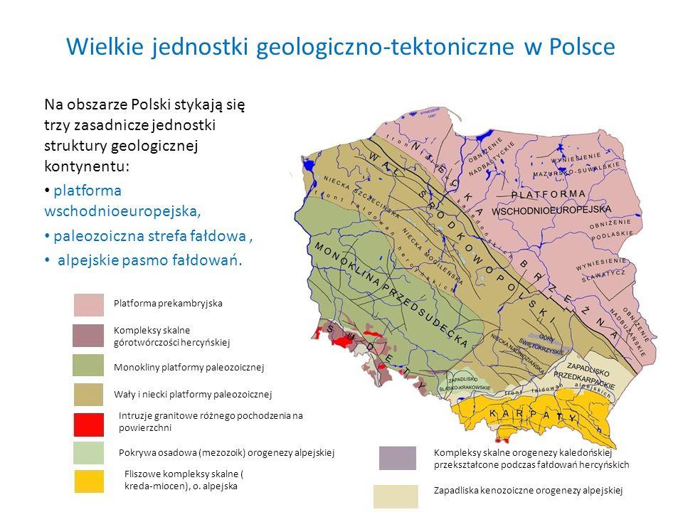 Wielkie jednostki geologiczno-tektoniczne w Polsce