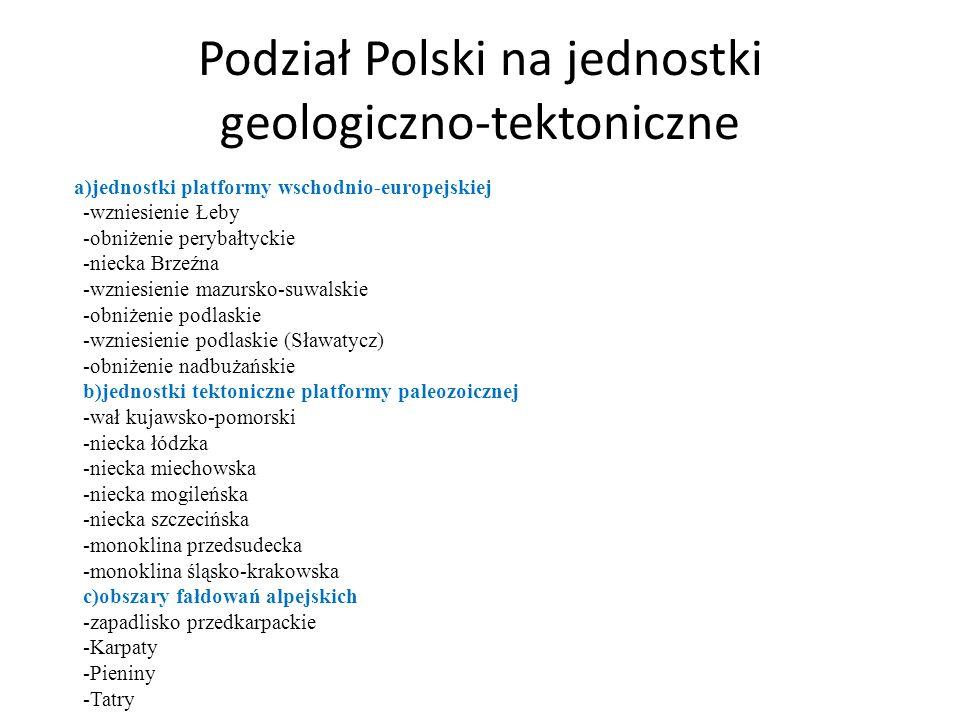 Podział Polski na jednostki geologiczno-tektoniczne
