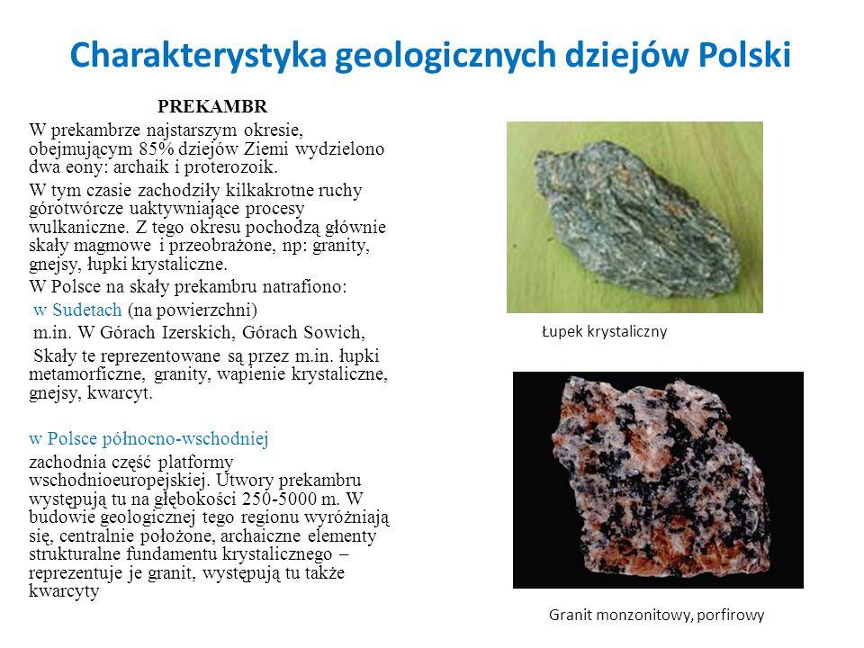 Charakterystyka geologicznych dziejów Polski
