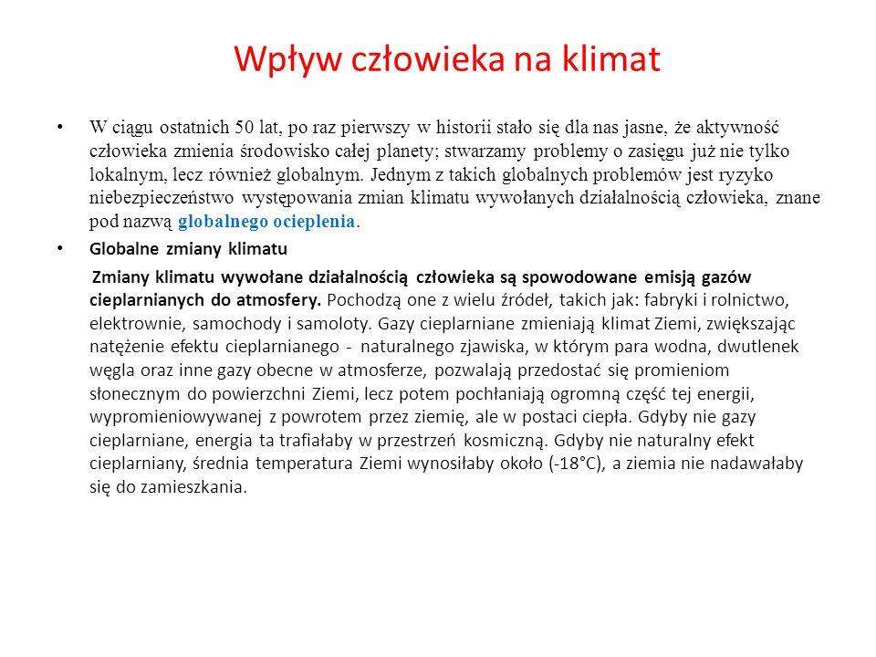 Wpływ człowieka na klimat