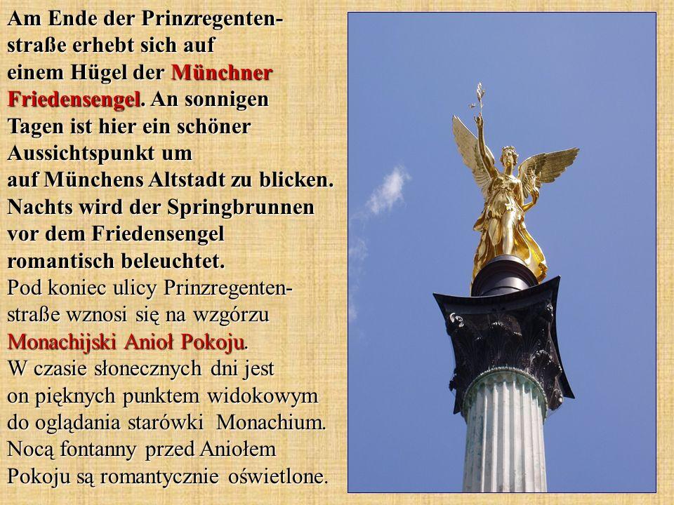 Am Ende der Prinzregenten- straße erhebt sich auf einem Hügel der Münchner Friedensengel.
