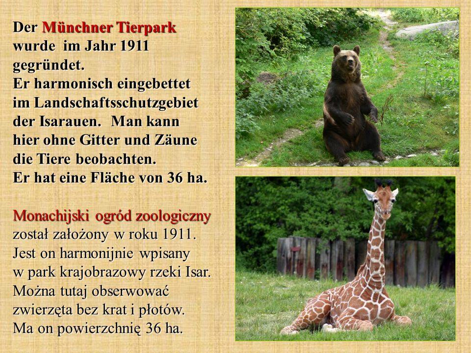 Der Münchner Tierpark wurde im Jahr 1911 gegründet