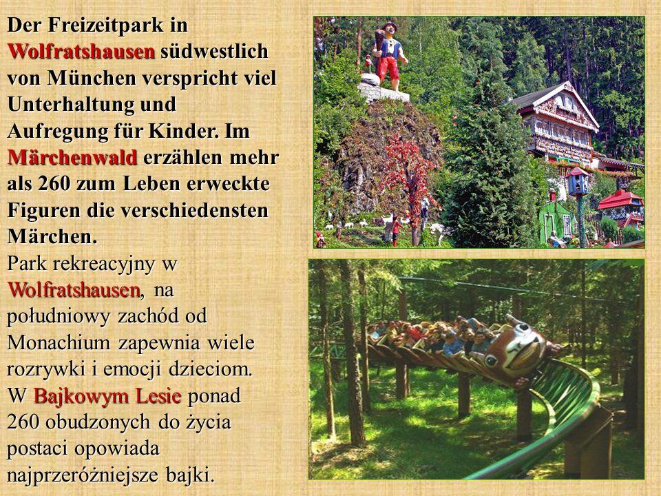 Der Freizeitpark in Wolfratshausen südwestlich von München verspricht viel Unterhaltung und Aufregung für Kinder.