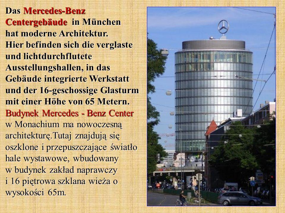 Das Mercedes-Benz Centergebäude in München hat moderne Architektur