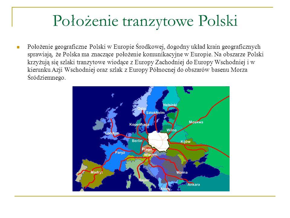 Położenie tranzytowe Polski