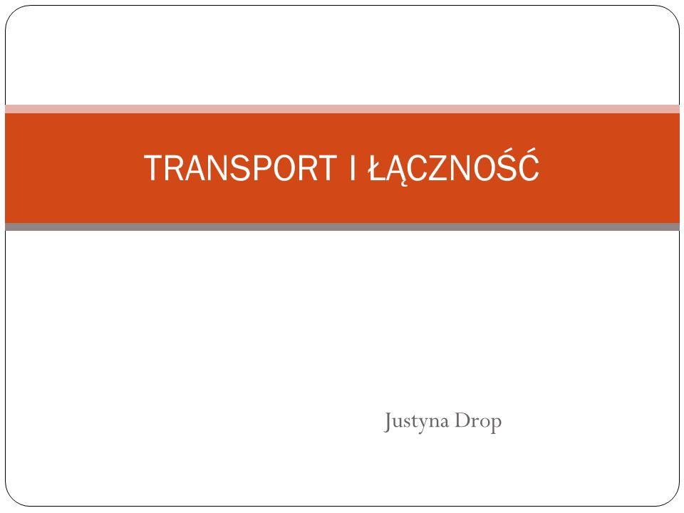 TRANSPORT I ŁĄCZNOŚĆ Justyna Drop