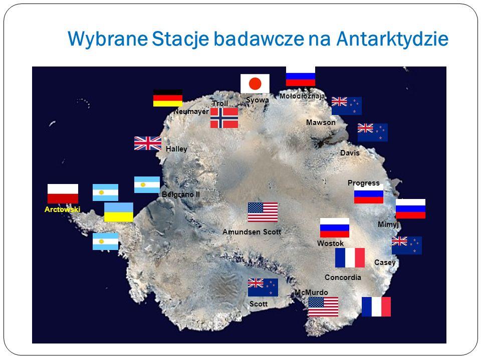 Wybrane Stacje badawcze na Antarktydzie