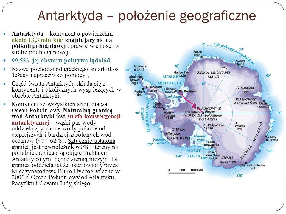 Antarktyda – położenie geograficzne