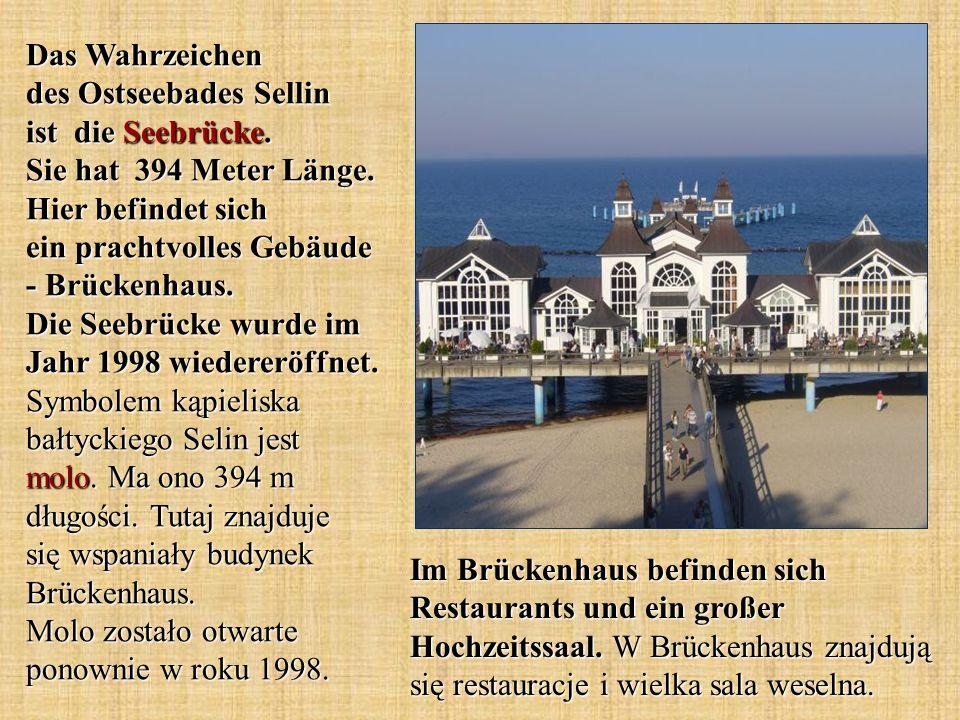 Das Wahrzeichen des Ostseebades Sellin ist die Seebrücke