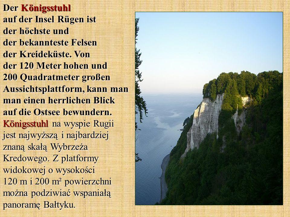 Der Königsstuhl auf der Insel Rügen ist der höchste und der bekannteste Felsen der Kreideküste.
