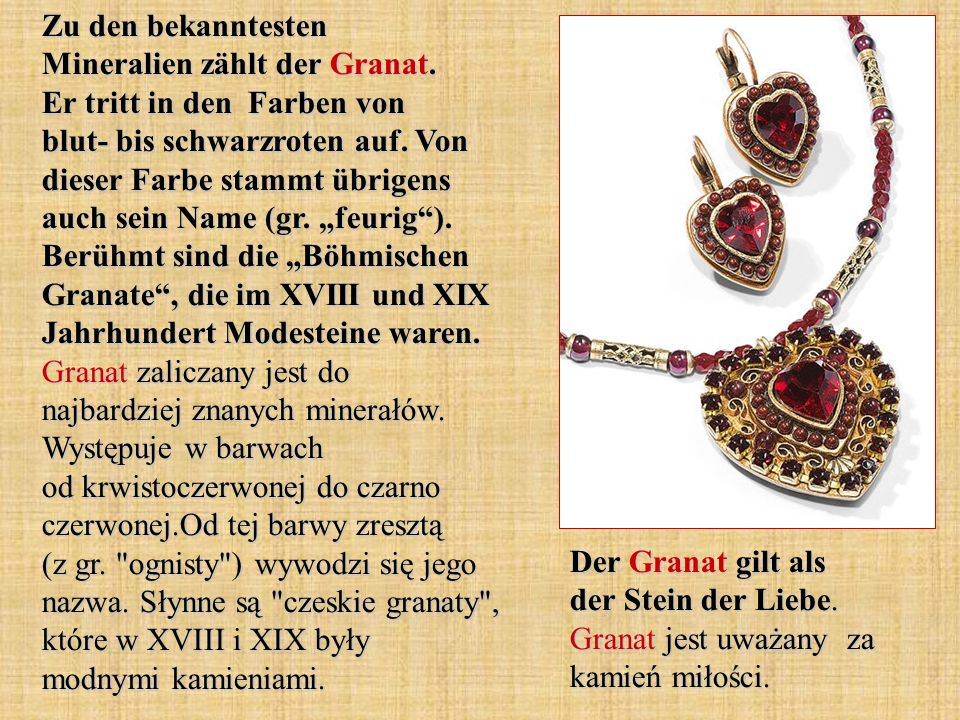 Zu den bekanntesten Mineralien zählt der Granat