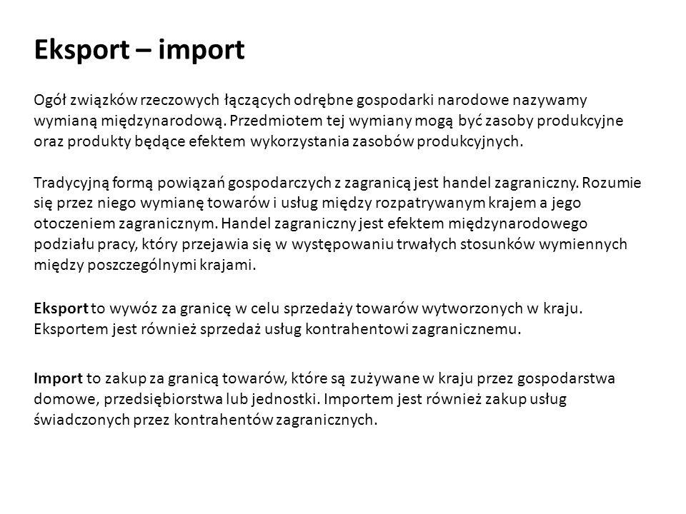 Eksport – import