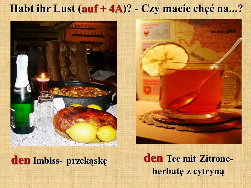 den Tee mit Zitrone- herbatę z cytryną