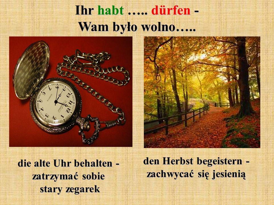 die alte Uhr behalten - zatrzymać sobie stary zegarek