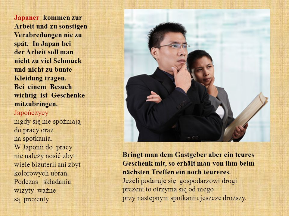Japaner kommen zur Arbeit und zu sonstigen Verabredungen nie zu spät