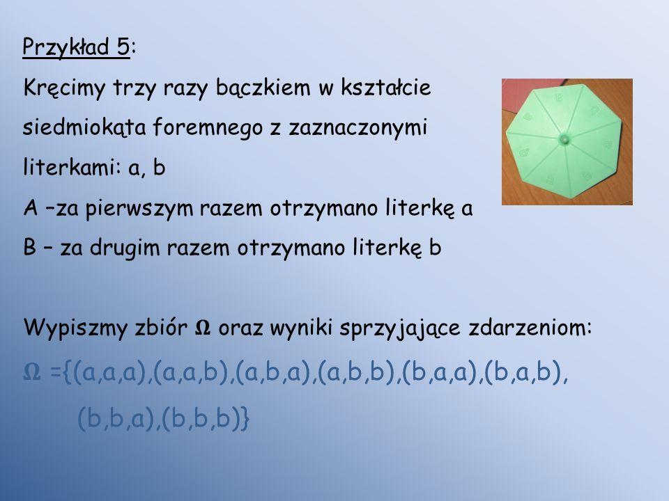 𝛀 ={(a,a,a),(a,a,b),(a,b,a),(a,b,b),(b,a,a),(b,a,b), (b,b,a),(b,b,b)}