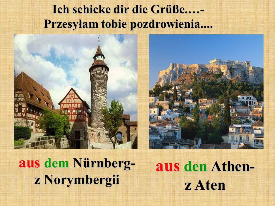 aus den Athen- z Aten aus dem Nürnberg- z Norymbergii