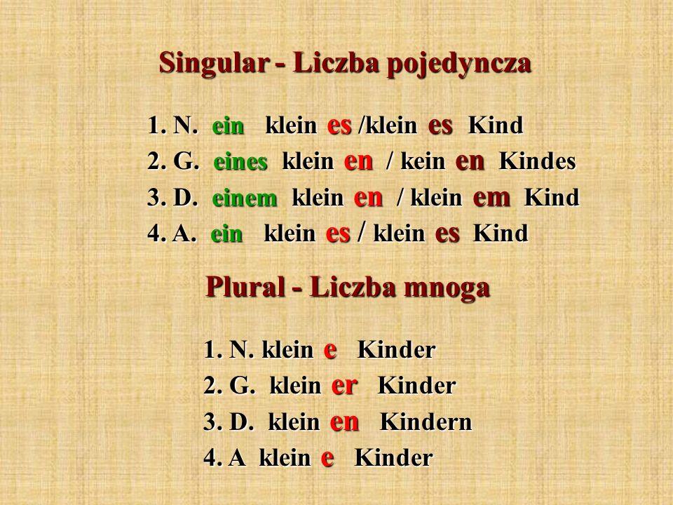 Singular - Liczba pojedyncza