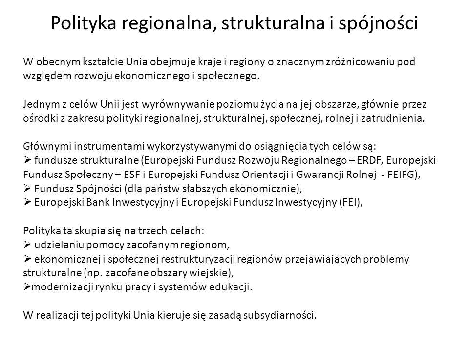 Polityka regionalna, strukturalna i spójności