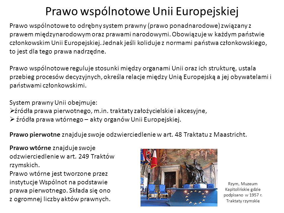 Prawo wspólnotowe Unii Europejskiej