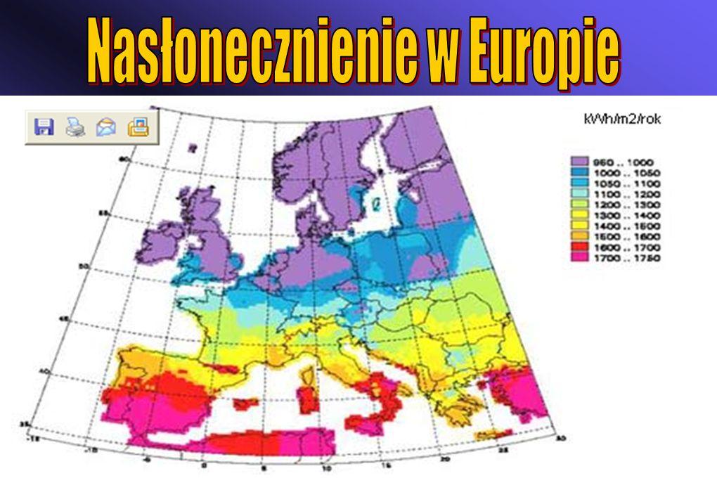 Nasłonecznienie w Europie