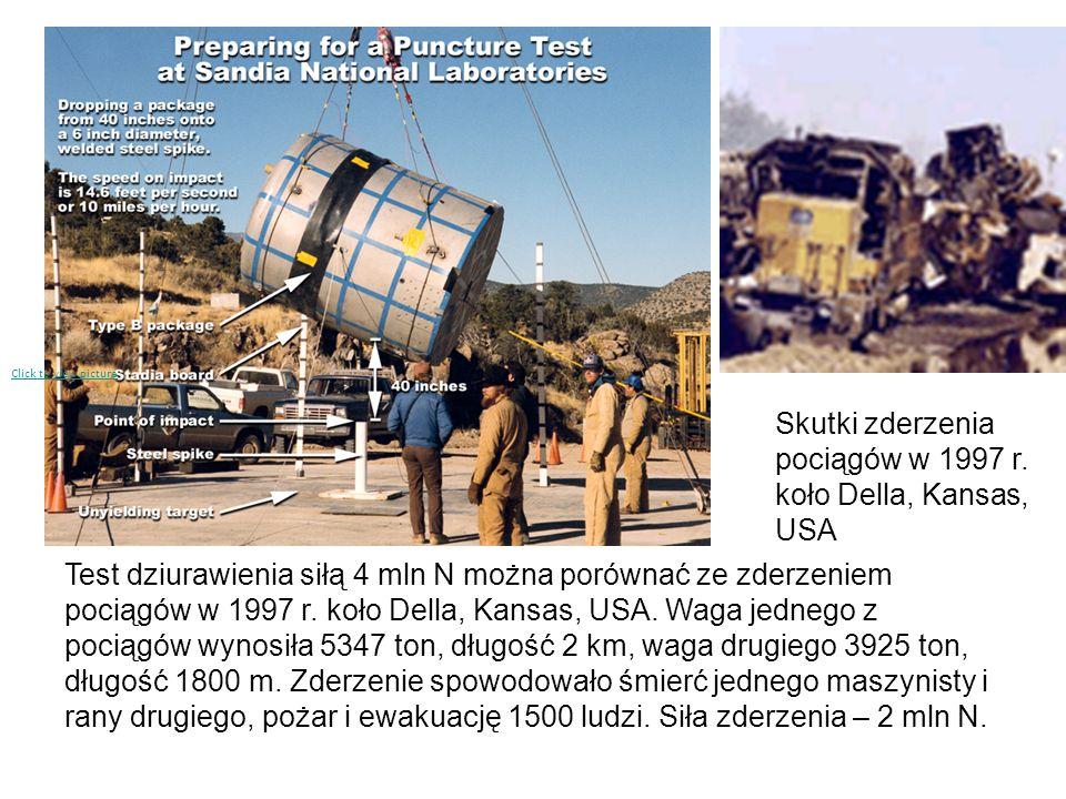Skutki zderzenia pociągów w 1997 r. koło Della, Kansas, USA