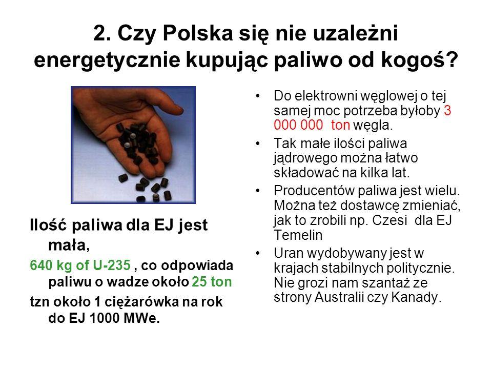 2. Czy Polska się nie uzależni energetycznie kupując paliwo od kogoś