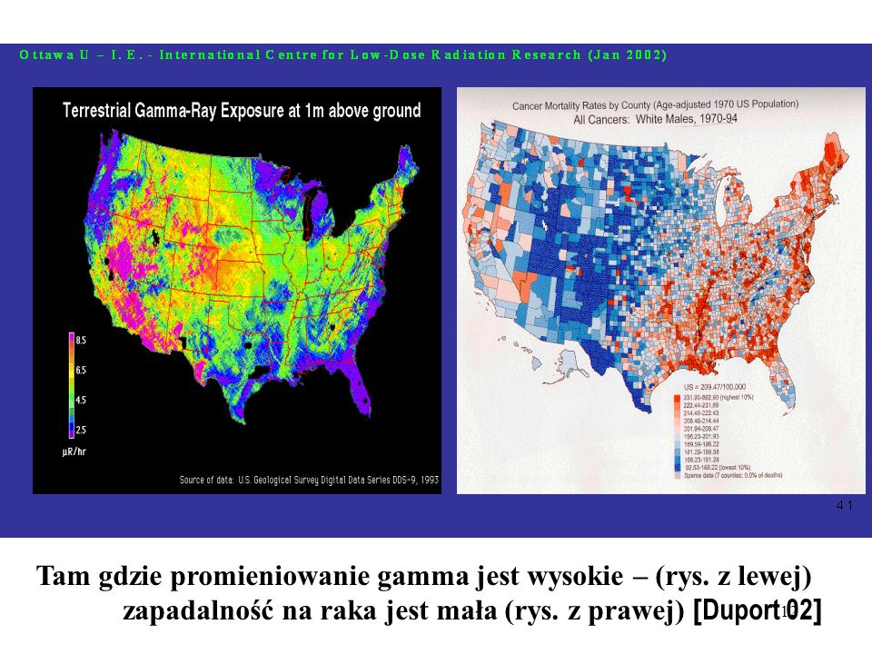 Tam gdzie promieniowanie gamma jest wysokie – (rys. z lewej)
