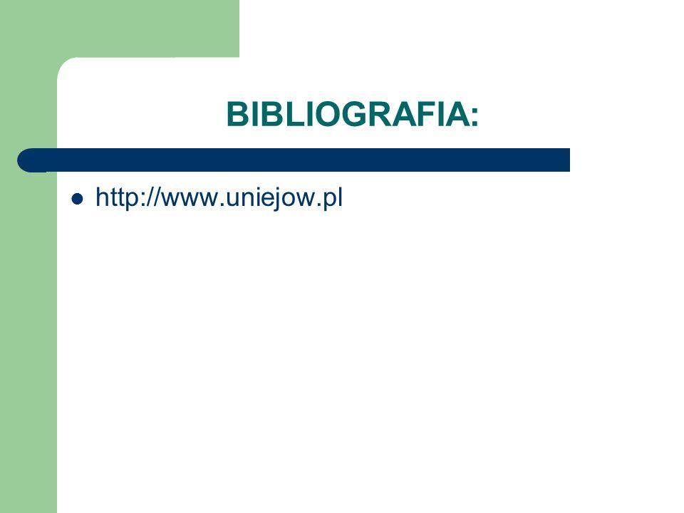 BIBLIOGRAFIA: http://www.uniejow.pl