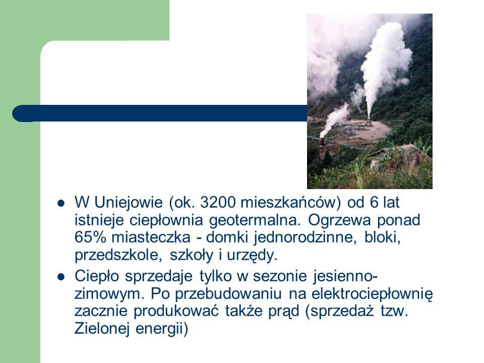 W Uniejowie (ok. 3200 mieszkańców) od 6 lat istnieje ciepłownia geotermalna. Ogrzewa ponad 65% miasteczka - domki jednorodzinne, bloki, przedszkole, szkoły i urzędy.