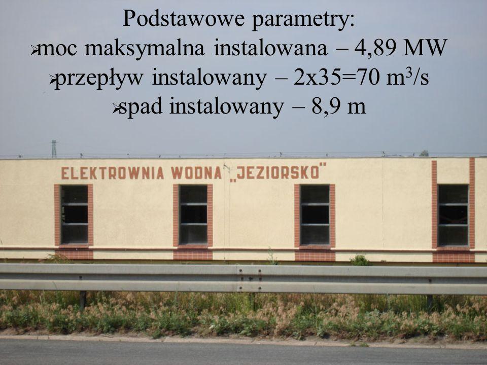 Podstawowe parametry: moc maksymalna instalowana – 4,89 MW